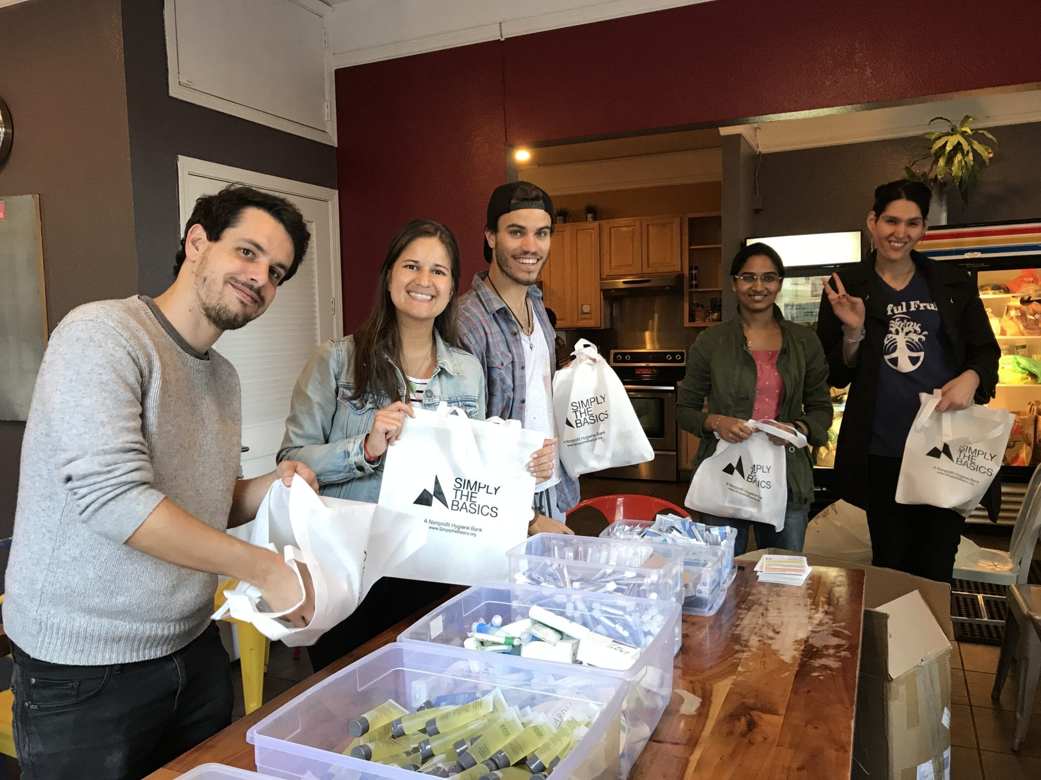atlasGO volunteer day with Simply the Basics