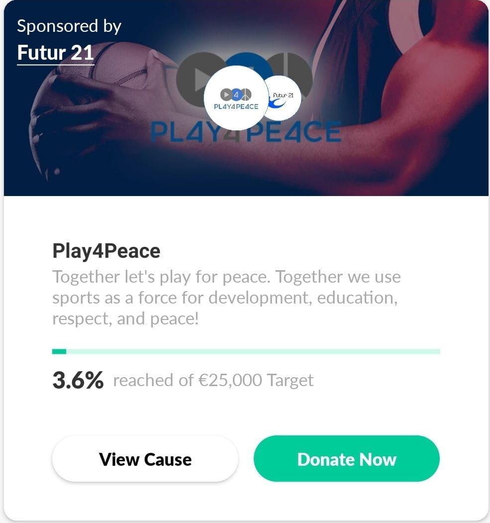play 4 peace challenge dashboard