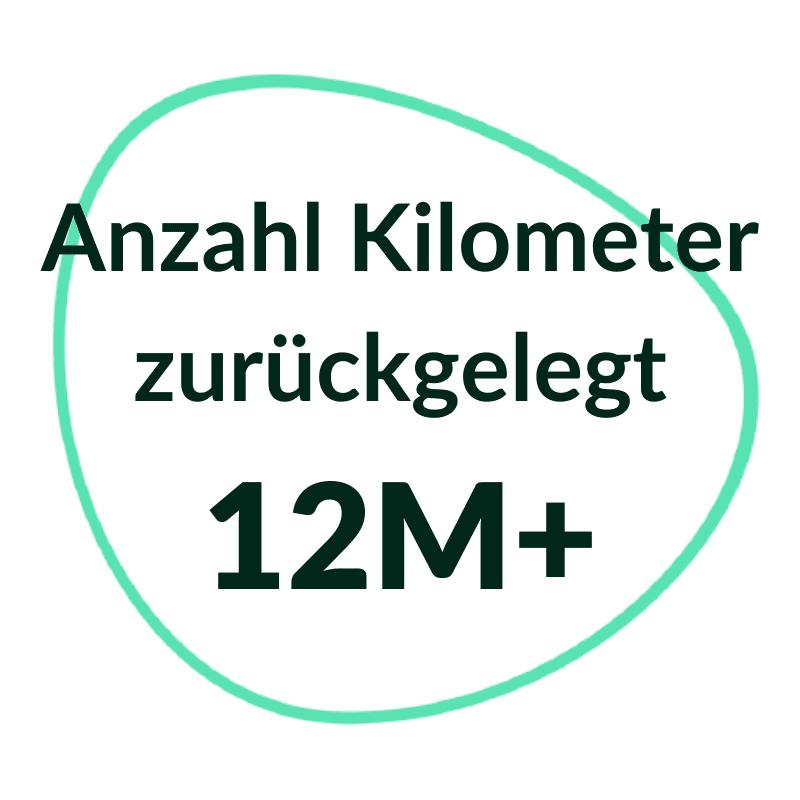 12 million km tracked